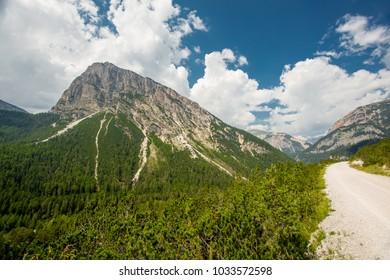 Dolomites cycle path, Etore Bovero, Italy