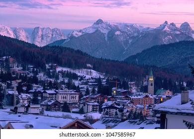 Dolomites, Italy. Cortina d'Ampezzo.