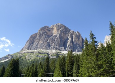 Dolomites, Italy: different images of the natural mountain landscape
