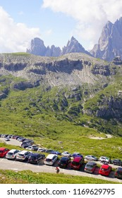 DOLOMITES, ITALY - JUL 31, 2018 - 