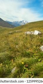 Dolomites Italy. Marmolada massif. Beautiful view over the Marmolada glacier. Alps Mountain landscape