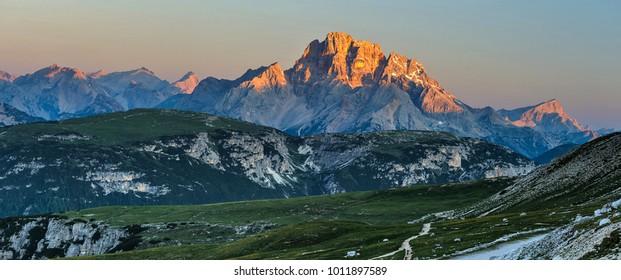Dolomites Italy, sunrise