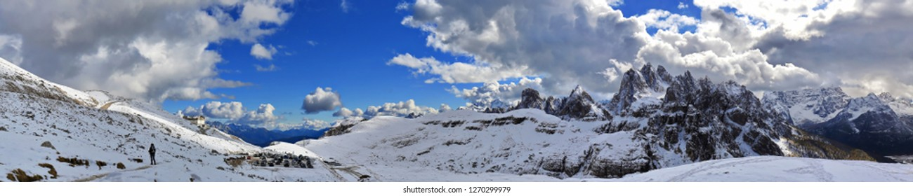 Dolomites is a mountain range in Italy