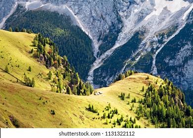 Dolomites mountains landscape