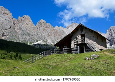 Dolomites, UNESCO heritage, near the Rifugio Firenze, above Val Gardena in Italy
