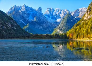 Dolomites, view of Monte Cristallino, Italy