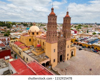 Dolores Hidalgo aerial view in Mexico