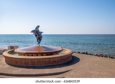 Dolphins fountain on Malecon - Puerto Vallarta, Jalisco, Mexico