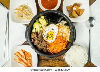 Dolsot Bibimbap, traditional Korean dish