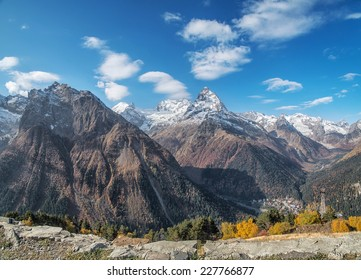 Dombai - a mountainous area in Karachay-Cherkessia in the Kuban basin in the North Caucasus Russia