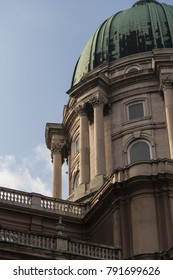 The dome of the Buda Castle and the colonnade