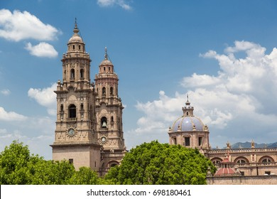 Dome of the cathedral of morelia michoacan., Mexico