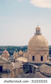 the dome of the cathedral of Saint Nicholas, Noto, Sicily