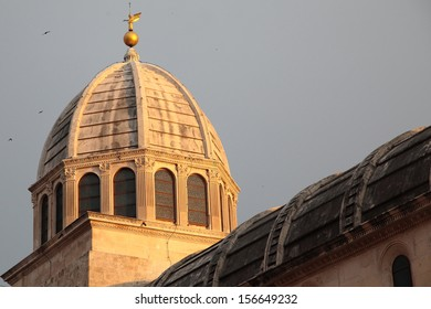 The dome of the Cathedral of St. James in Sibenik, Croatia