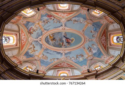 Dome of Church of the Annunciation of Our Lady in Mdina, Malta. 22 November, 2017