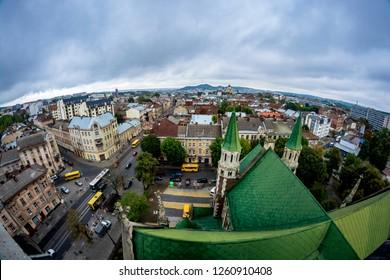 Dome Church of St. Olga and Elizabeth in Lviv. Built in 1903-1911 in honor of Empress Sisi.