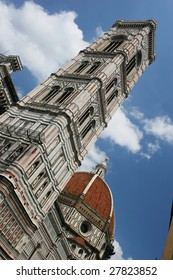 The dome of the Florence Duomo and bell tower (Florence, Italy)