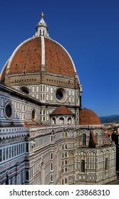 Dome of the Florence's Cathedral (Duomo) by Filippo Brunelleschi - View from the bell tower (campanile)