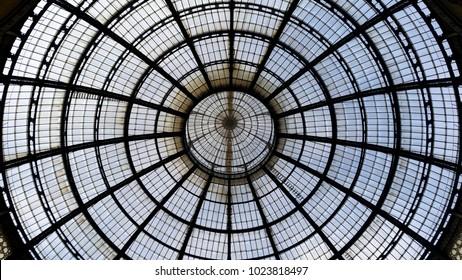 Dome in Galleria Vittorio Emanuele in Milan, Italy