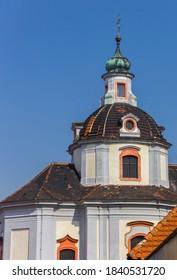 Dome of the historic Chram svateho Vaclava church in Litomerice, Czech Republic - Shutterstock ID 1840531720