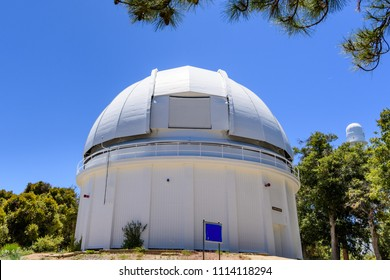 Dome housing the historical 60-inch telescope (completed in 1908); Mt Wilson, San Gabriel mountains, Los Angeles county, California