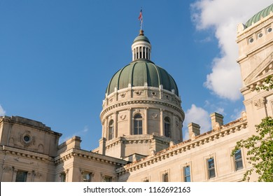 Dome of the Indiana State Capital Building in downtown Indianapolis, Indiana