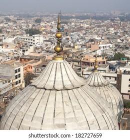 Dome of Jama Masjid Mosque in Delhi.