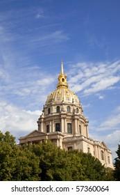 Dome of Les Invalides chapel, Paris.