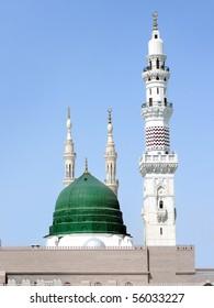 dome and minarets of masjid nabvi