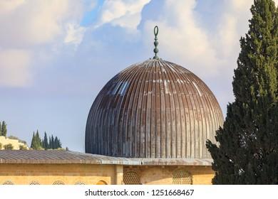 Dome of the mousque of Al-aqsa in Jerusalem, Israel
