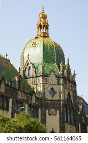 Dome of the Museum of Applied arts. Hungary, Budapest