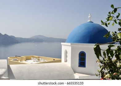 Dome in Oia on the island of Santorini