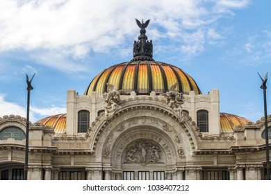 dome of the palace of the fine arts in mexico city