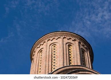 dome of Piatnitska church upion the blue sky, in Chernihiv, Ukraine