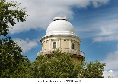 A dome of Pulkovo astronomical observatory, St.Petersburg, Russia