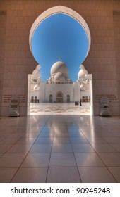 Dome reflection of Sheikh Zayed Mosque