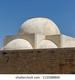 Dome of religious building in old city of Jerusalem, Israel