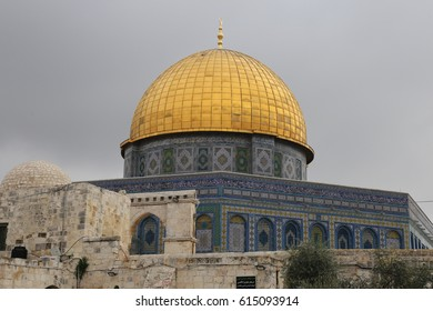 Dome of the Rock Islamic Mosque, Temple Mount, Jerusalem, Israel.