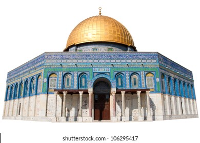The Dome of the Rock in Jerusalem - Isolated