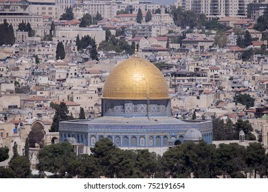 The Dome of the Rock in Jerusalem Israel