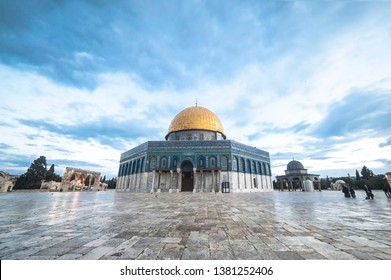 Dome of Rock Mosque in Baitulmaqdis  Palestine . With Gold Dome is a third holiest site in Muslim world.
