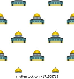 Dome of the Rock on the Temple Mount pattern seamless flat style for web  illustration