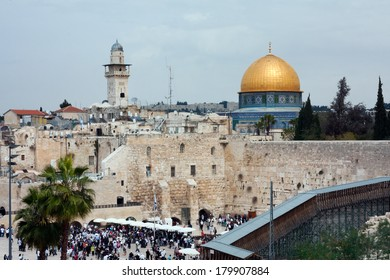 The Dome of the Rock and  Western Wall, Jerusalem, Israel