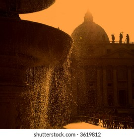 The Dome Of Saint Peter's Church, Rome, Italy