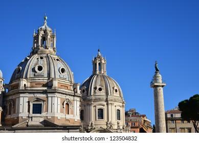 dome of Santa Maria di Loreto Rome