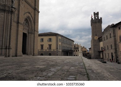 Dome square from Arezzo, Tuscany, Italy