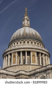 Dome of St Paul's Cathedral in London, England