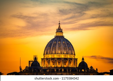 Dome of St Peter's basilica in Rome,Vatican