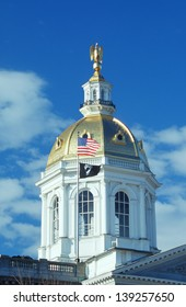 Dome of the State Capitol of New Hampshire in Concord, NH