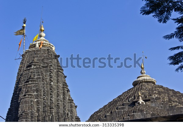 Dome of the temple of Lord Trimbakeshwar (Three-eyed Shiva) in Trimbak. It is one of most important Shiva temples, place of one Jyotirlinga.